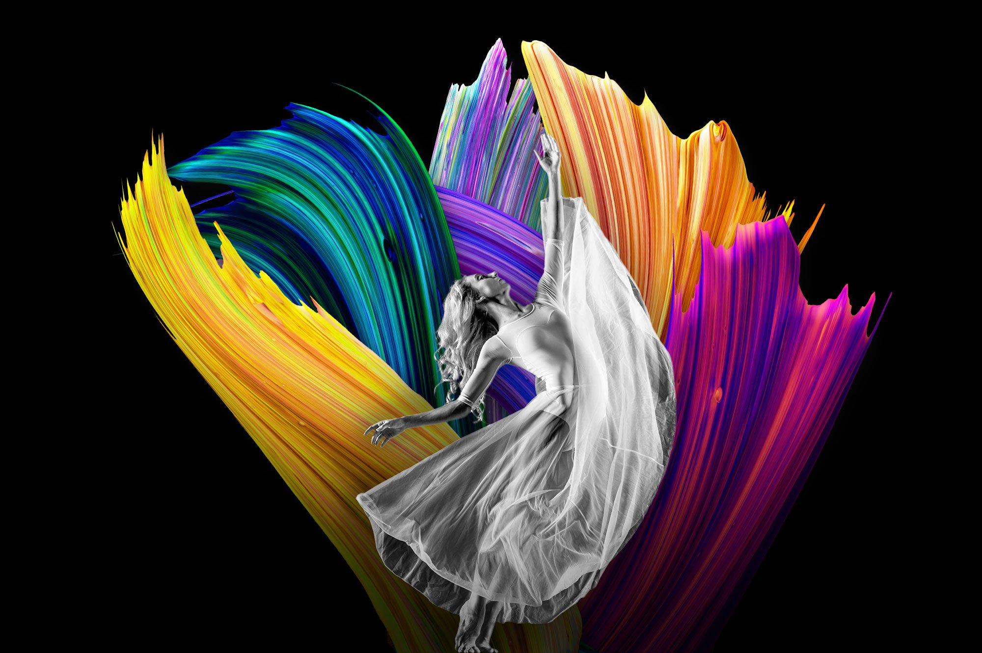 创意炫彩绘画颜料笔刷海报主视觉广告设计PS素材 Vibrant Paint Strokes插图(11)