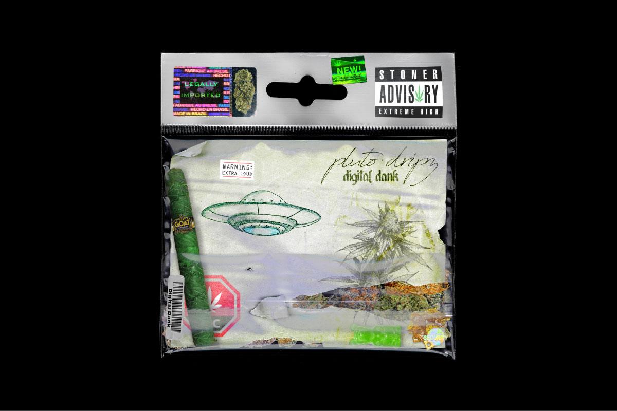 [已解锁精品素材] 170种做旧不干胶标签贴纸塑料袋火焰CD封面设计背景素材 Digital Dank (Weed GFX Kit)插图