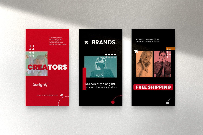 时尚潮流品牌推广新媒体海报设计PSD模板 Creator – Dynamic Social Media Brand插图(11)