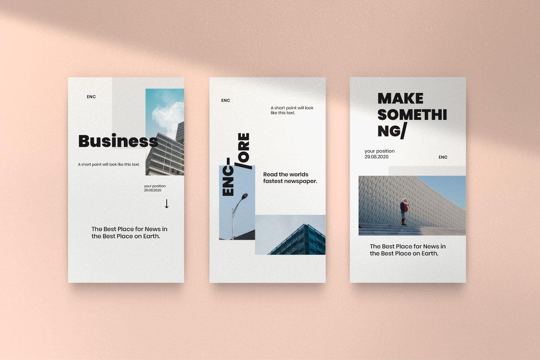 时尚简约城市摄影推广社交新媒体设计模板 ENCORE – Minimal Business Instagram插图(12)