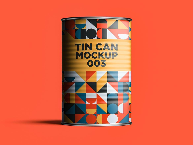12款食品罐头易拉罐锡罐外观设计展示样机模板 Tin Can Mockup Set插图(12)
