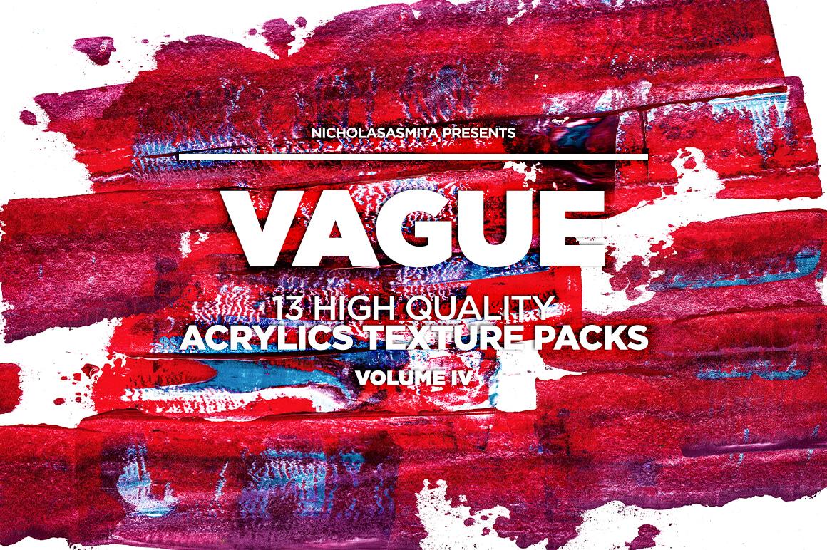 13款高清抽象丙烯酸涂料背景纹理图片素材 Vague IV: 13 Acrylics Textures插图(2)
