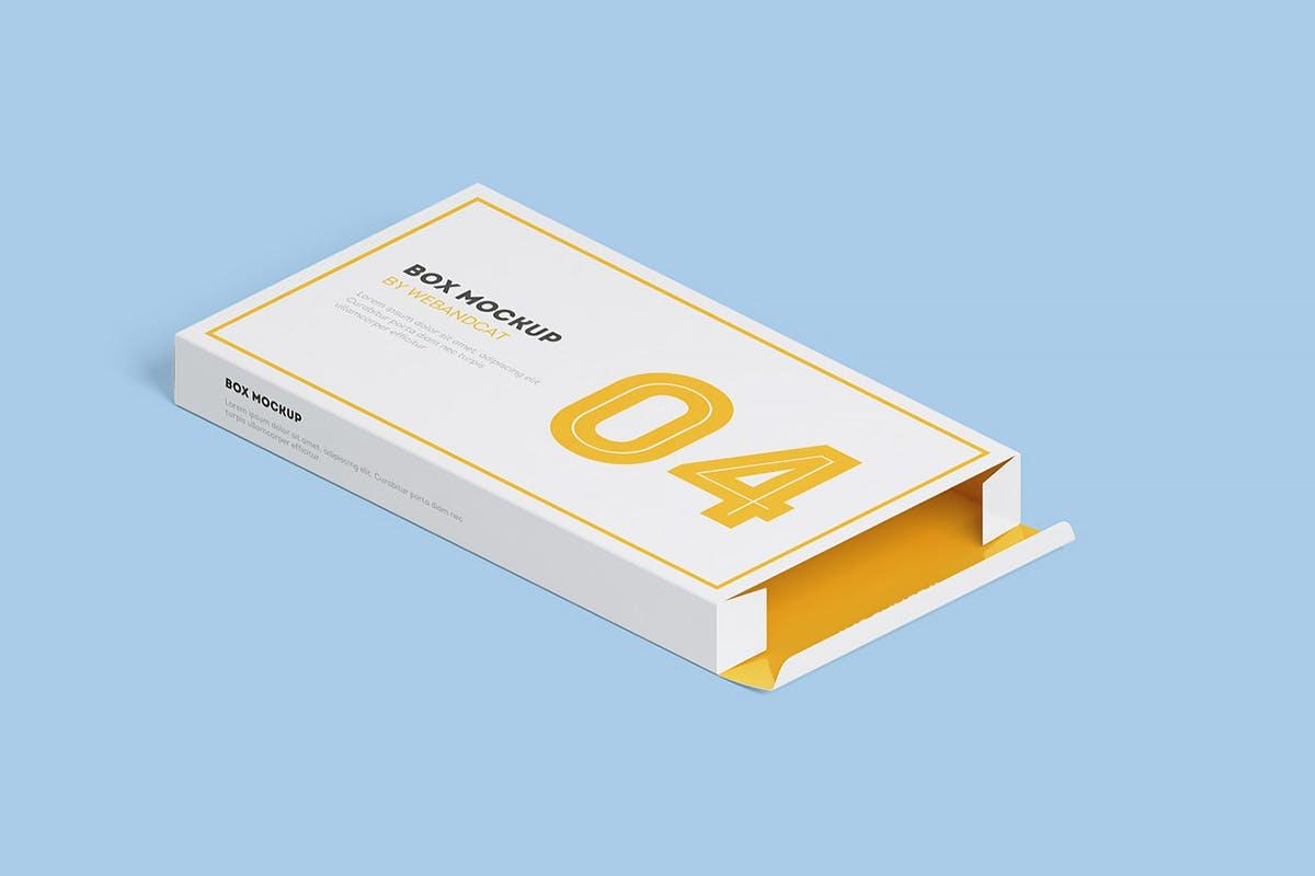 9款平面矩形药片包装盒设计展示样机模板 Package Box Mockup: Flat Rectangle Box插图(12)