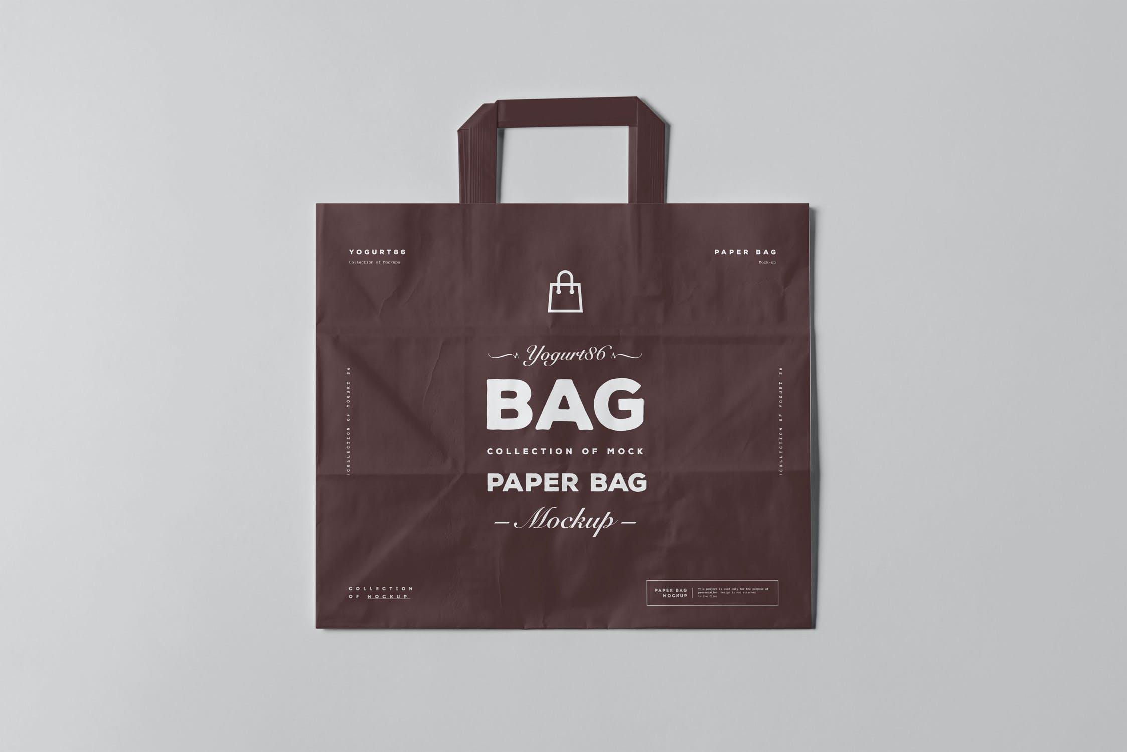 11款商城购物手提纸袋设计展示样机 Paper Bag Mockup 3插图(12)