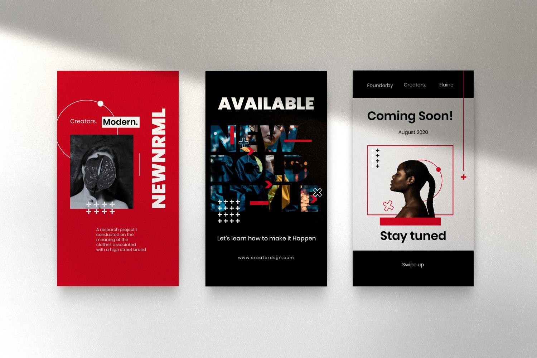 时尚潮流品牌推广新媒体海报设计PSD模板 Creator – Dynamic Social Media Brand插图(12)