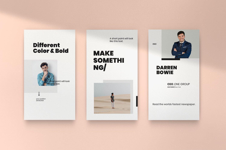 时尚简约城市摄影推广社交新媒体设计模板 ENCORE – Minimal Business Instagram插图(13)