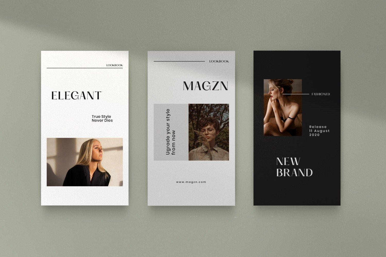 时尚服装品牌摄影推广新媒体海报设计PSD模板 MAGZ – Fashion Brand Social Media插图(13)