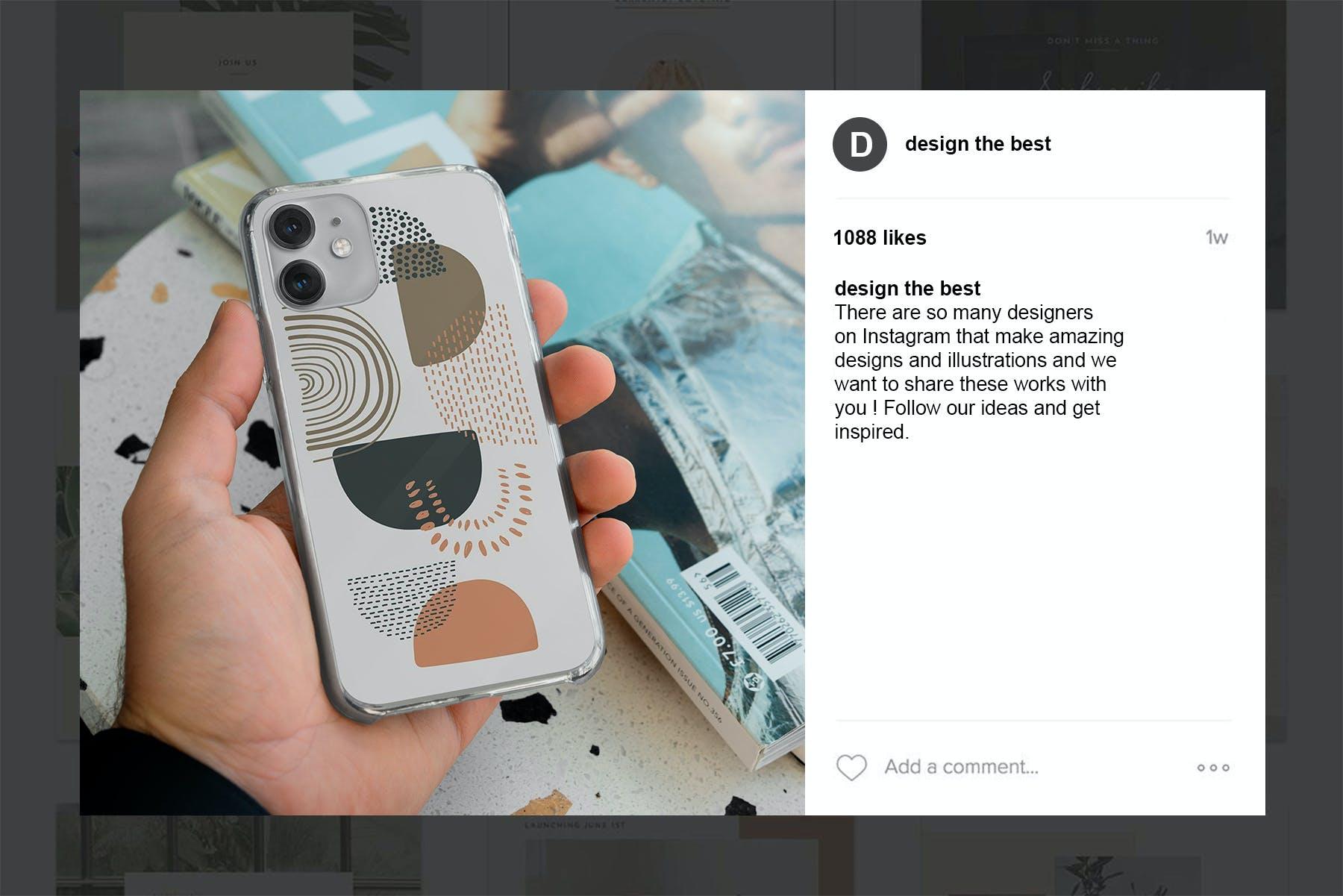11款Phone 11/Pro智能手机壳外观设计展示样机模板 Phone 11/Pro Clear Case Mockup插图(13)