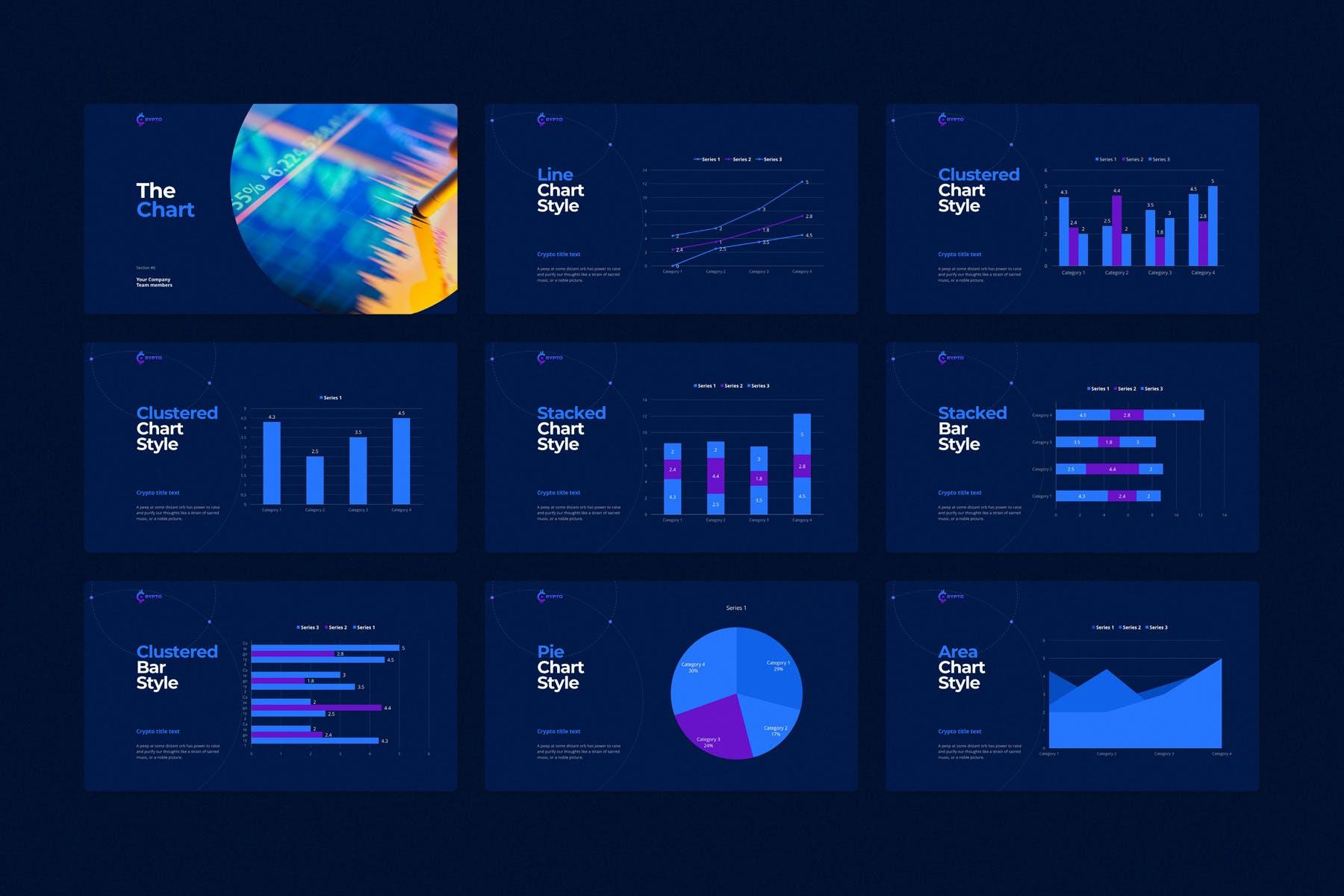 行业研究公司业务介绍图表设计幻灯片模板 CRYPTO Powerpoint Template插图(13)
