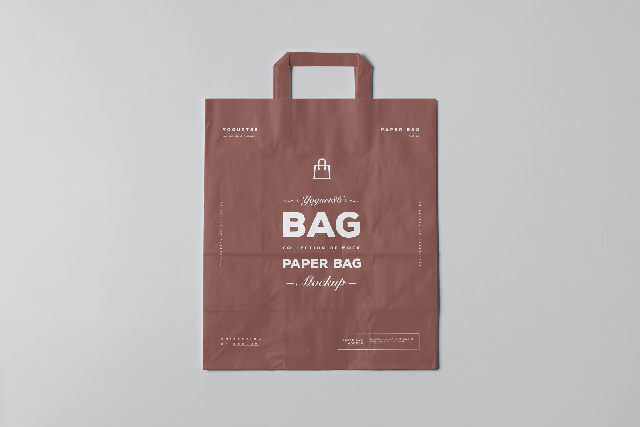 11款商城购物手提纸袋设计展示样机 Paper Bag Mockup 3插图(13)