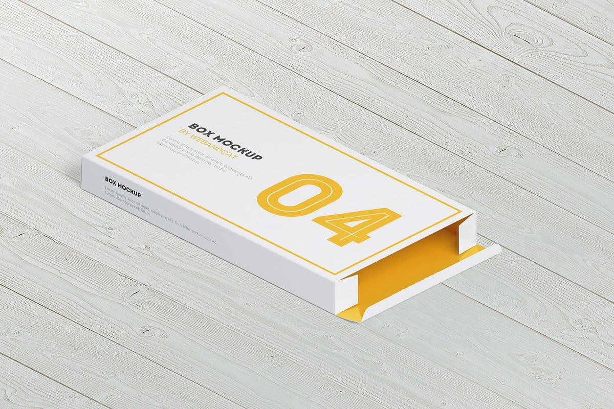 9款平面矩形药片包装盒设计展示样机模板 Package Box Mockup: Flat Rectangle Box插图(13)