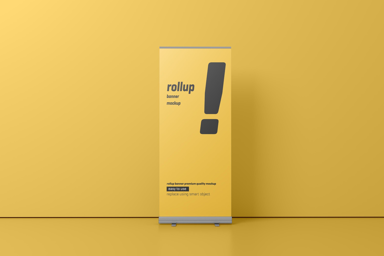 24款易拉宝海报展架设计展示样机模板 Roll Up Banner Mockup插图(12)