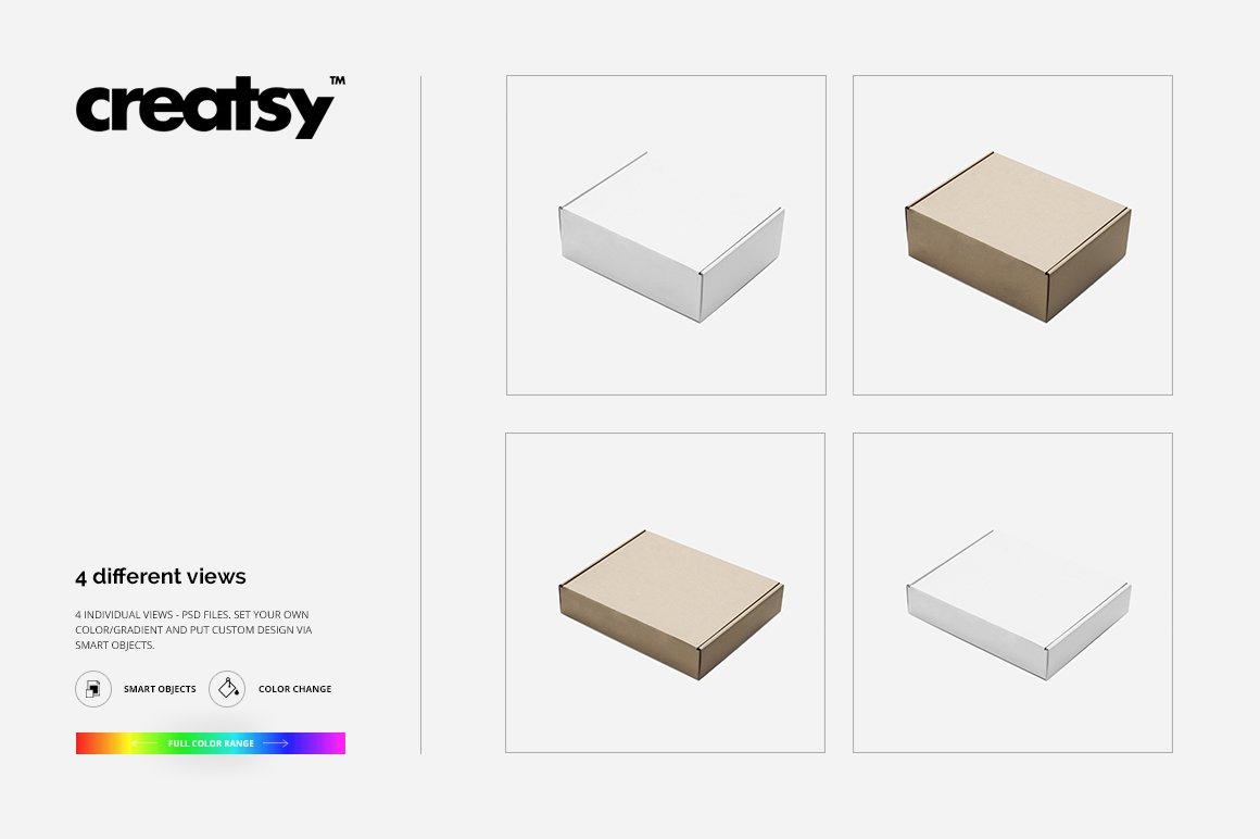 快递包裹纸盒外观设计展示样机集 Mailing Box Mockup Set插图(5)