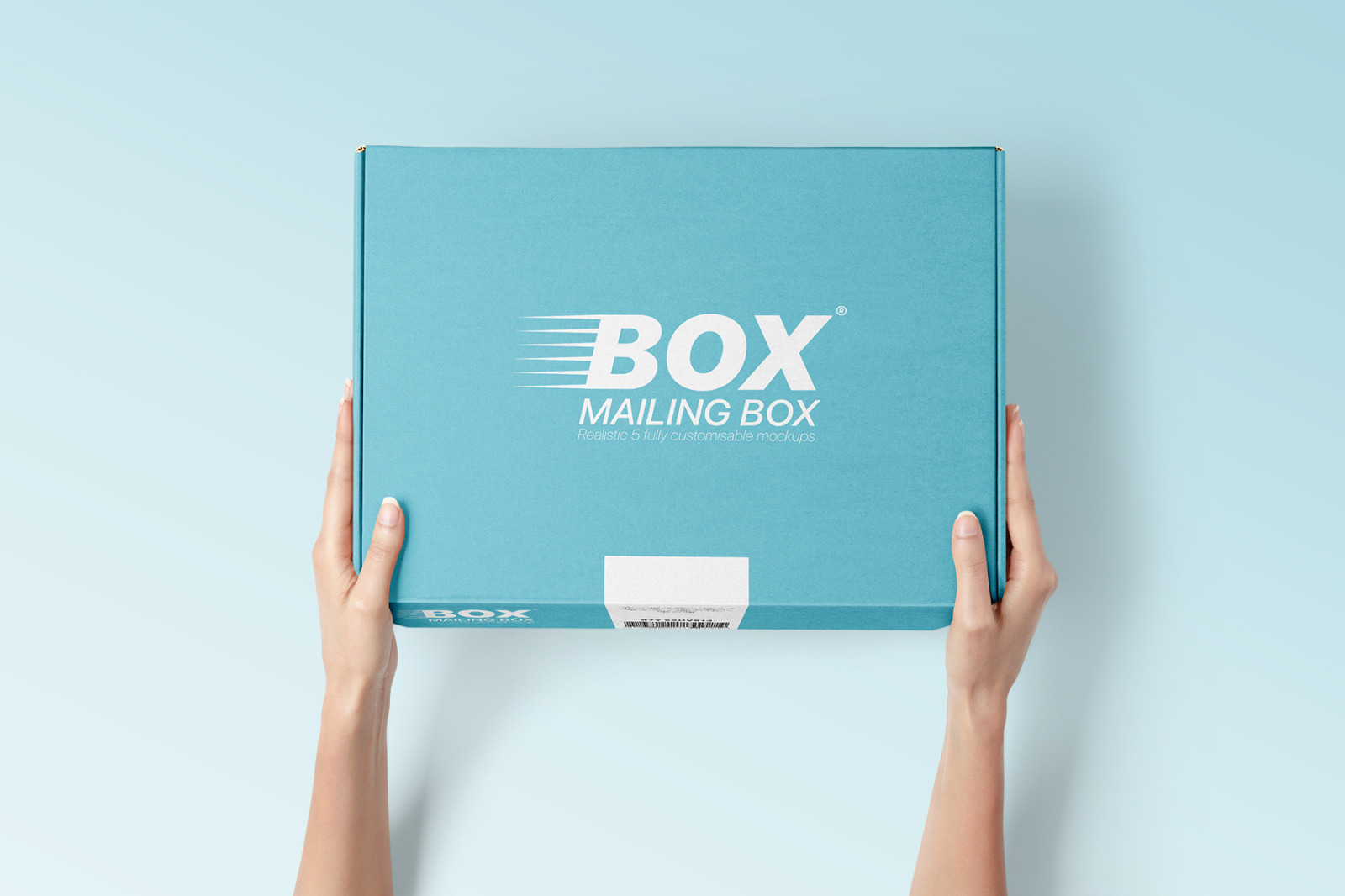多角度快递包装纸盒外观设计展示样机 Mailing Box Mockups Set插图(1)