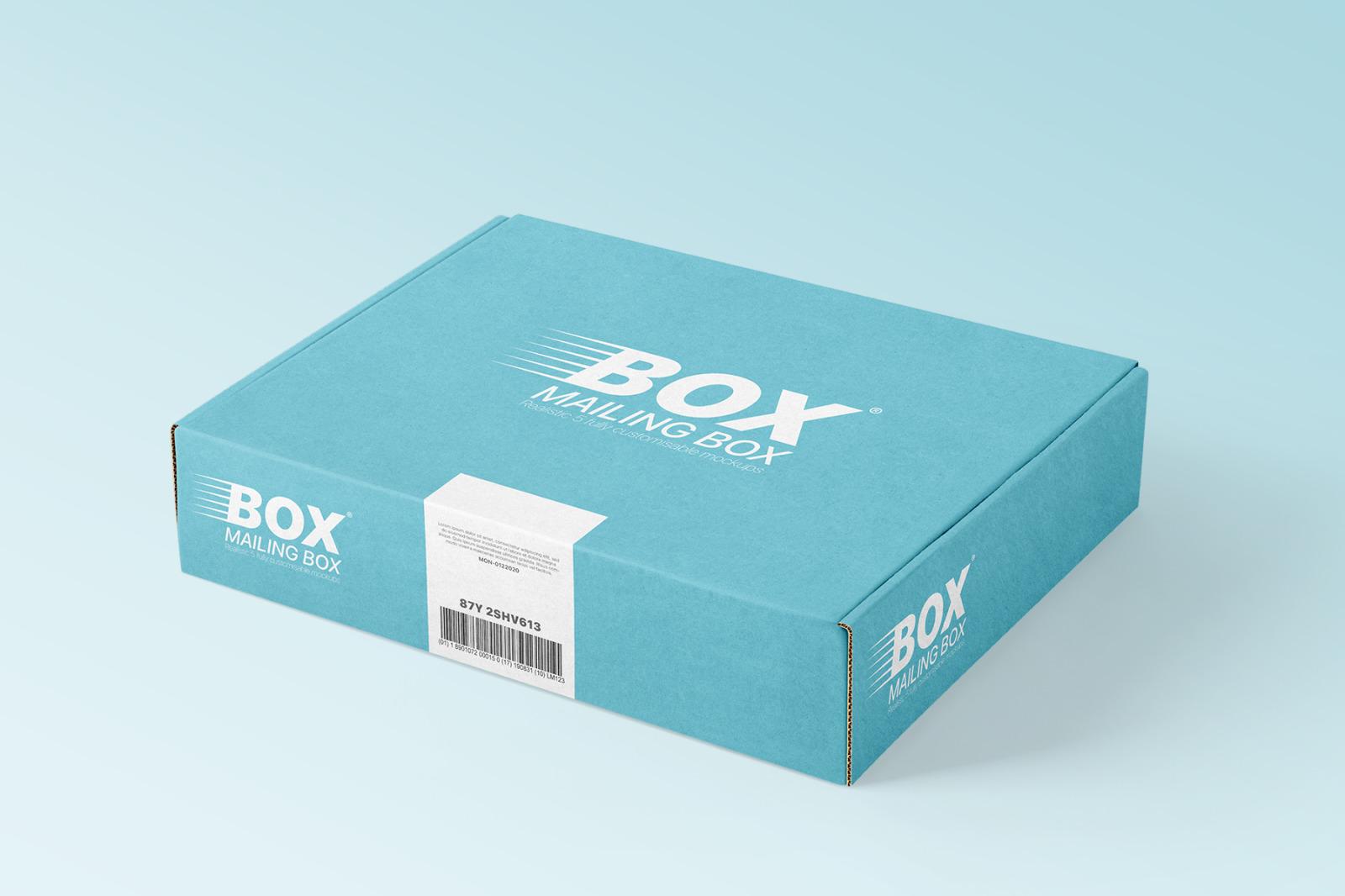 多角度快递包装纸盒外观设计展示样机 Mailing Box Mockups Set插图(4)