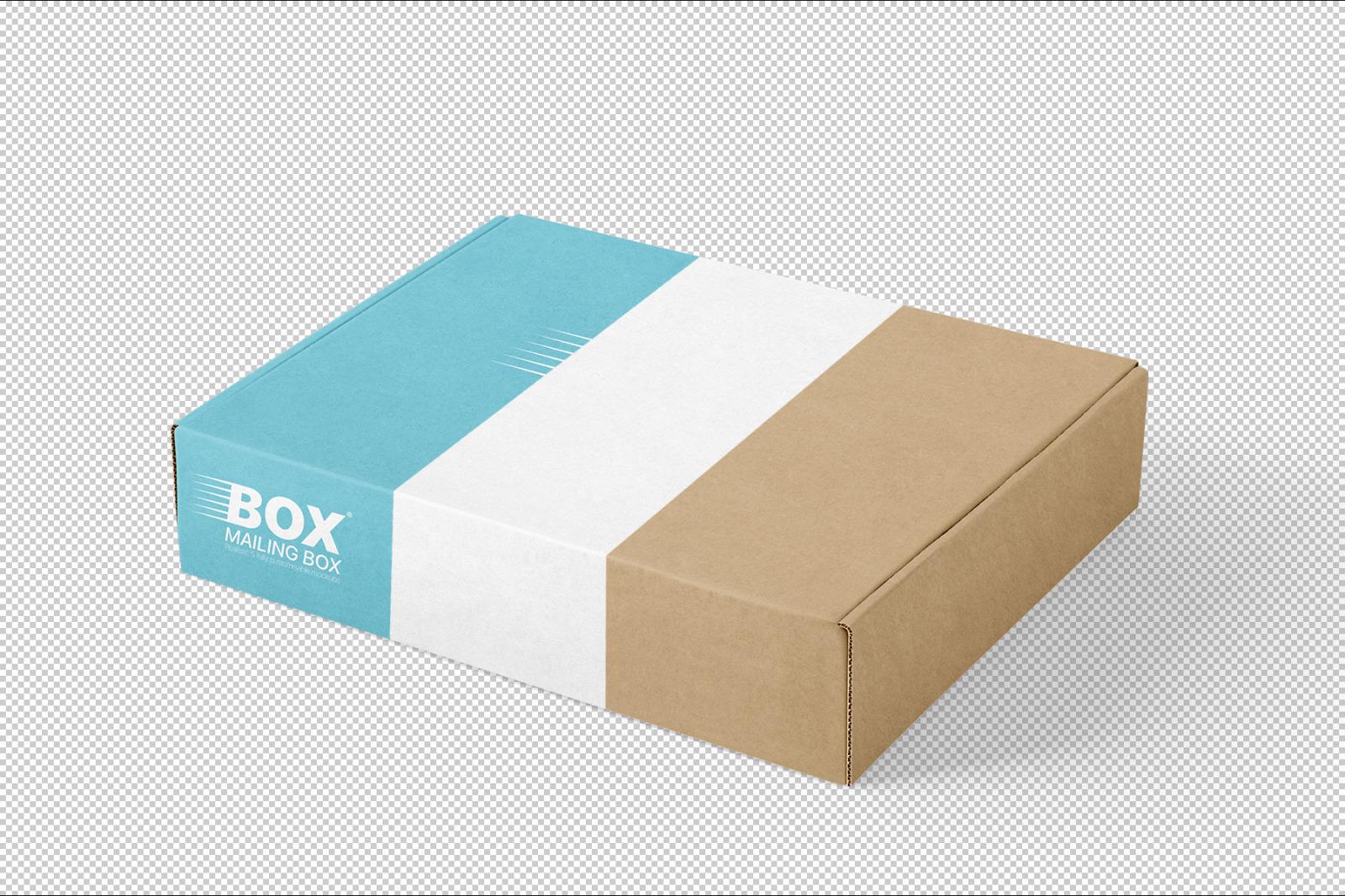 多角度快递包装纸盒外观设计展示样机 Mailing Box Mockups Set插图(5)