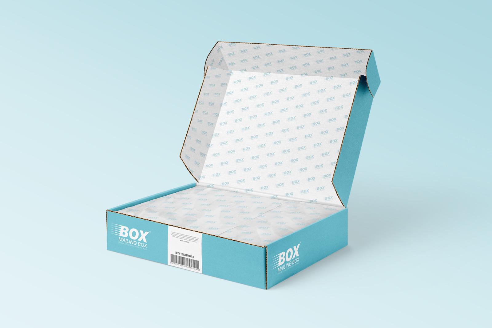 多角度快递包装纸盒外观设计展示样机 Mailing Box Mockups Set插图(6)