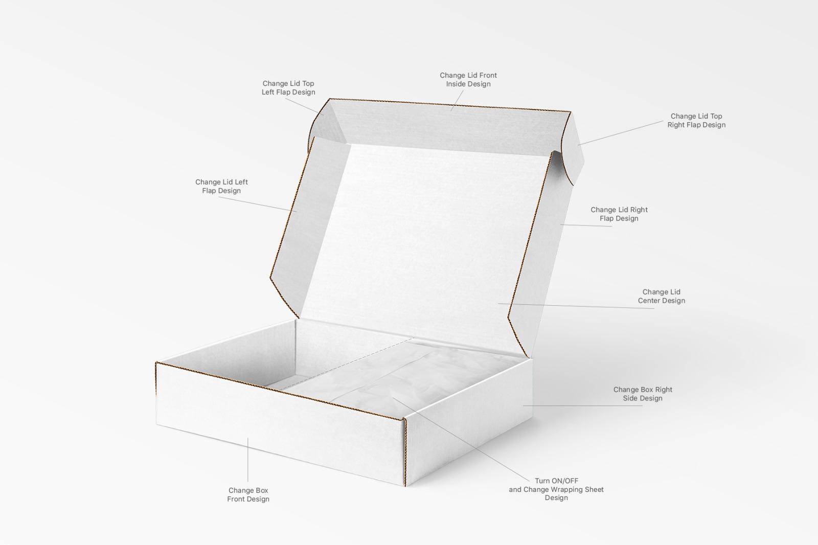 多角度快递包装纸盒外观设计展示样机 Mailing Box Mockups Set插图(7)