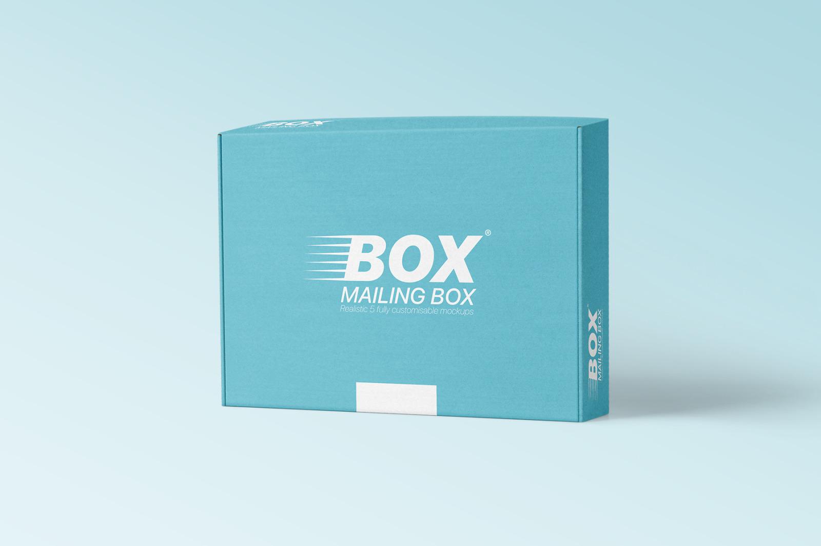 多角度快递包装纸盒外观设计展示样机 Mailing Box Mockups Set插图(8)
