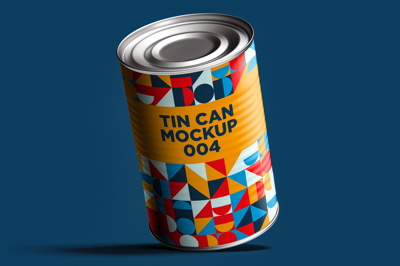 12款食品罐头易拉罐锡罐外观设计展示样机模板 Tin Can Mockup Set插图(15)
