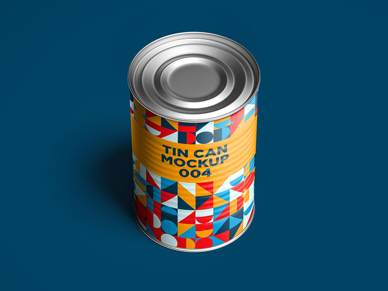 12款食品罐头易拉罐锡罐外观设计展示样机模板 Tin Can Mockup Set插图(16)
