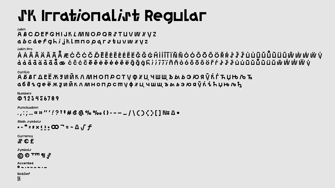 时尚艺术装饰英文字体下载 SK Irrationalist Personal License插图(16)