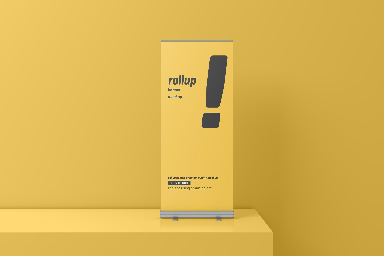 24款易拉宝海报展架设计展示样机模板 Roll Up Banner Mockup插图(15)