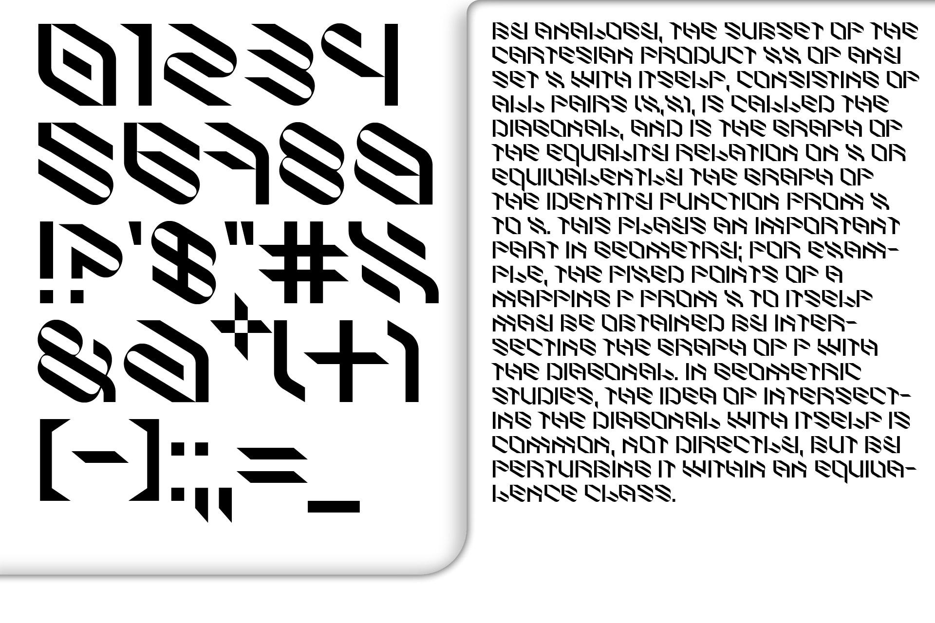 倾斜对角线英文字体下载 Eskos Typeface插图(18)