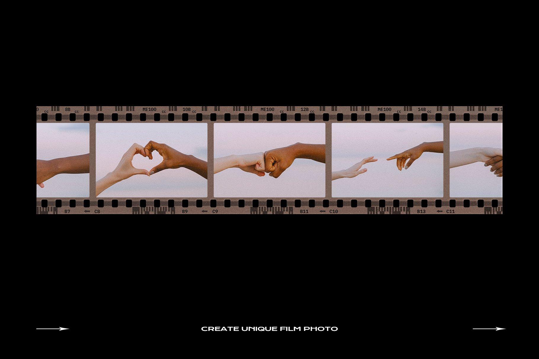 120款复古质感胶卷底片相片边框特效滤镜样机模板 Film Frame Mockup Template Bundle插图(9)
