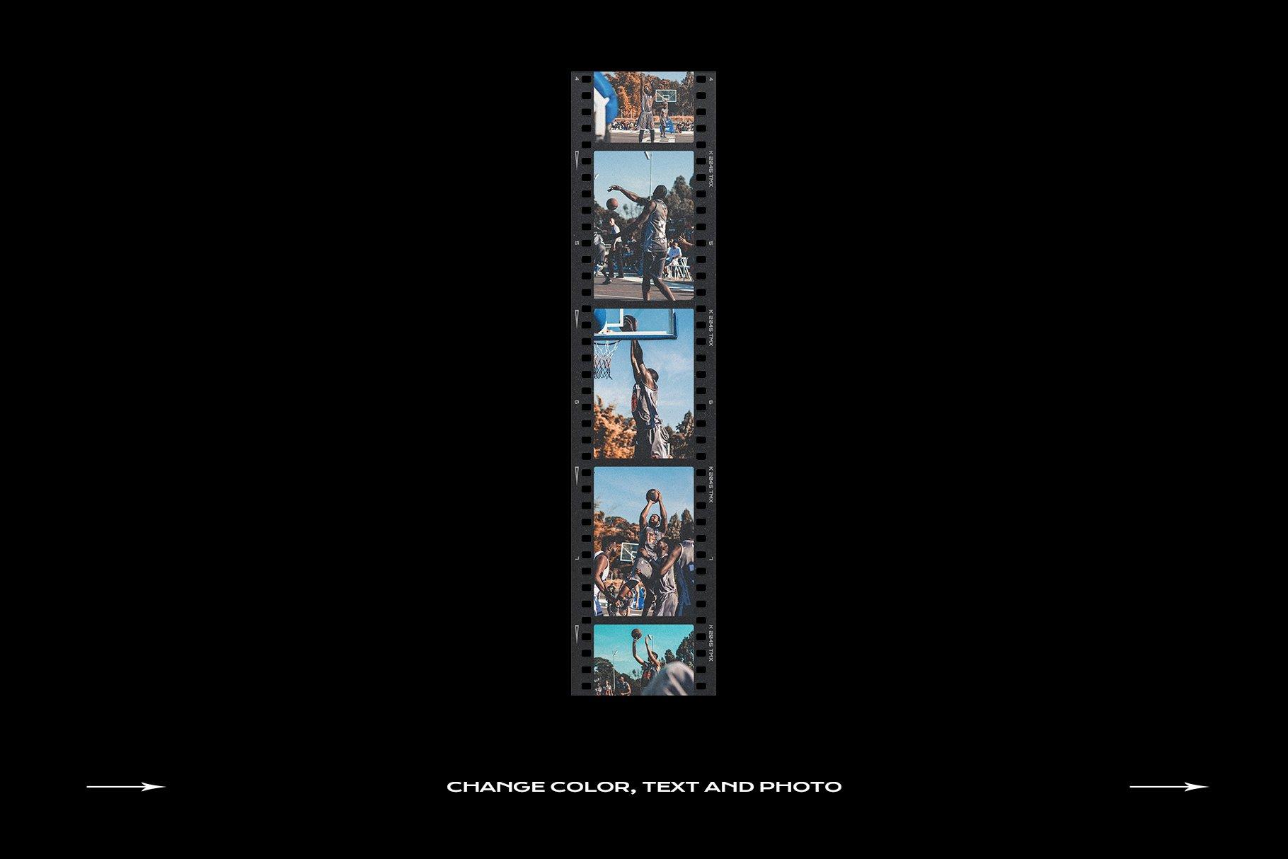 120款复古质感胶卷底片相片边框特效滤镜样机模板 Film Frame Mockup Template Bundle插图(10)