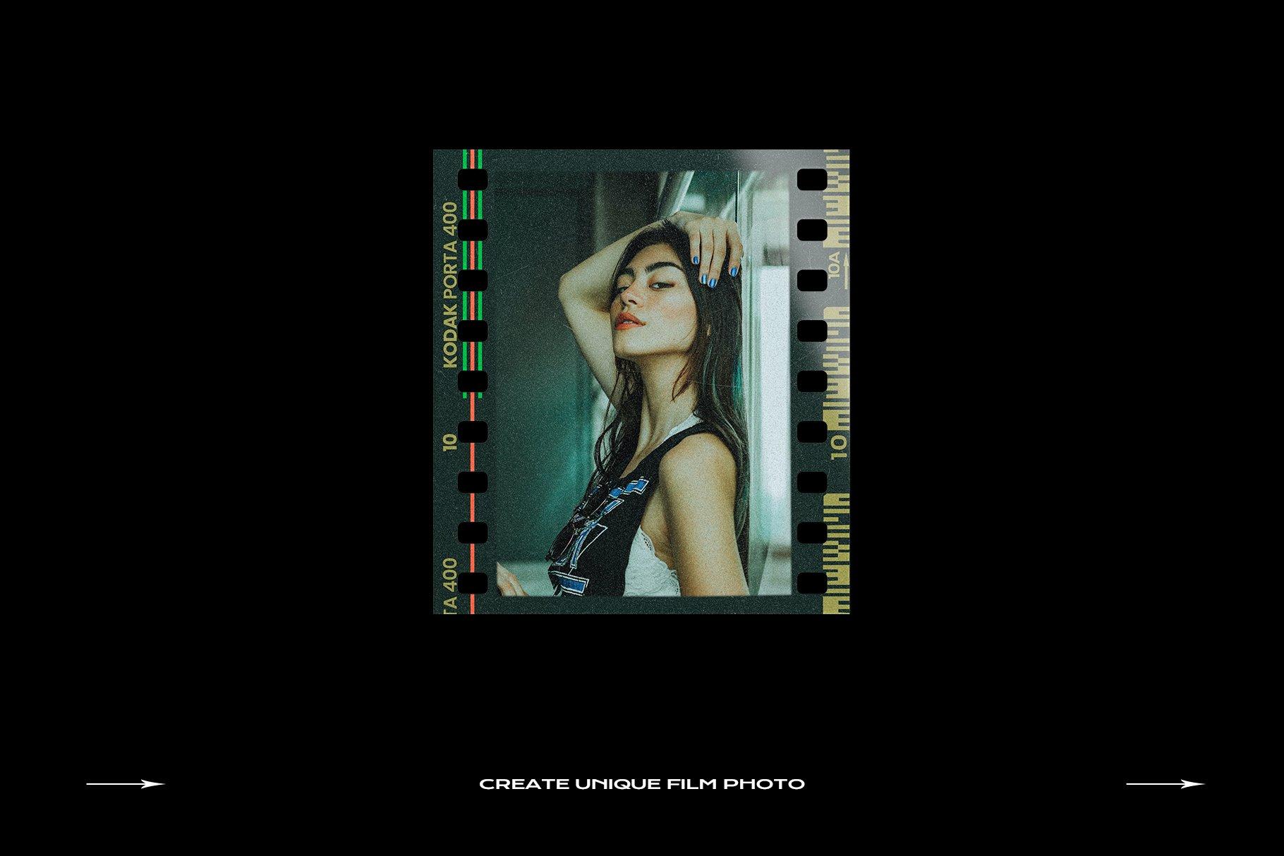 120款复古质感胶卷底片相片边框特效滤镜样机模板 Film Frame Mockup Template Bundle插图(26)