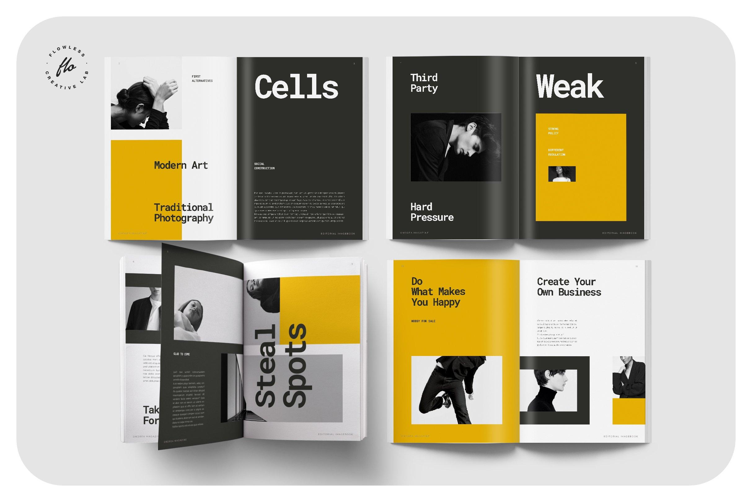 摄影作品集设计INDD画册模板 DIMENSI Editorial Imagebook插图(1)