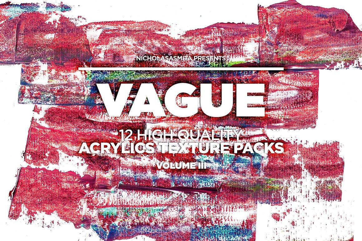 12款高清炫彩丙烯酸涂料背景纹理图片素材 Vague III: 12 Acrylics Textures插图(10)