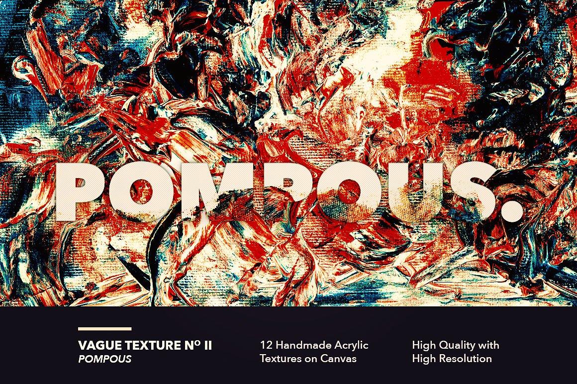 12款高清抽象炫彩丙烯酸涂料海报设计背景纹理图片素材 Vague I: 12 Acrylics Textures插图(2)