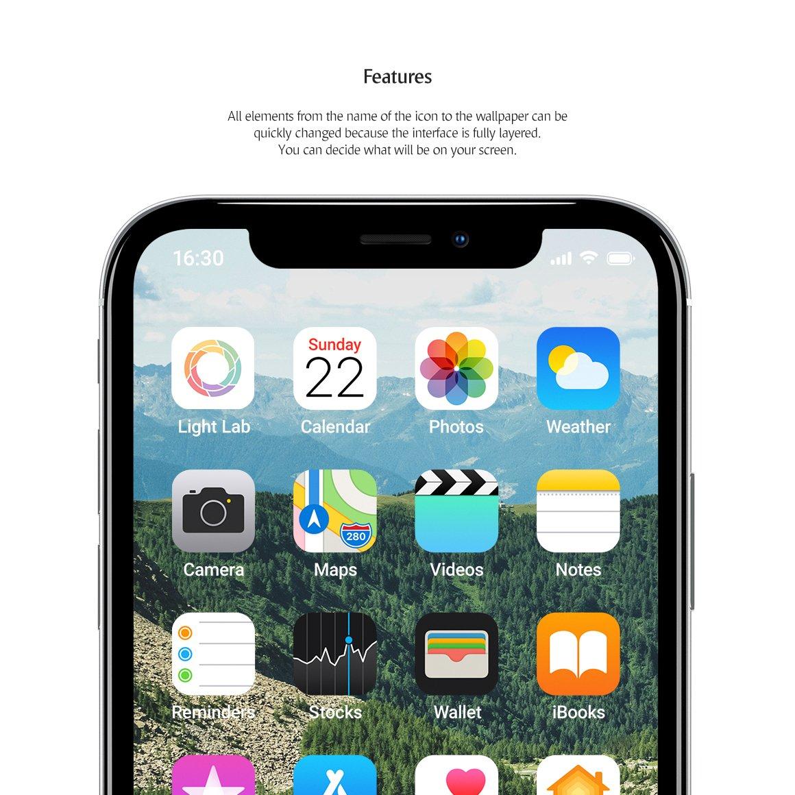 APP应用界面设计手机屏幕演示样机 Phone App Mockups Set插图(1)