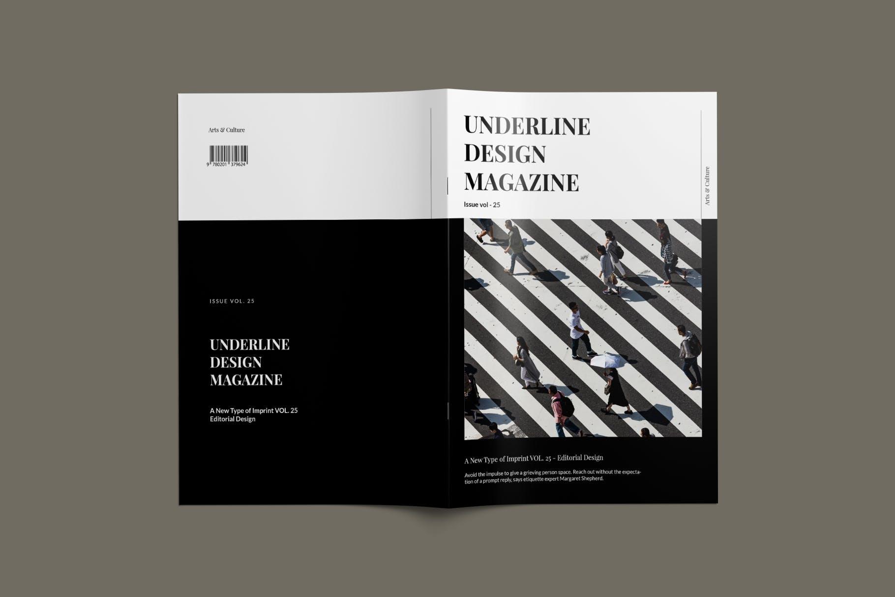 现代时尚摄影作品集设计画册INDD模板 Magazine Template插图(1)