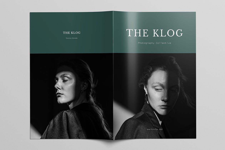 极简摄影作品集宣传册设计INDD模板 Photography Portfolio Brochure Template插图(1)