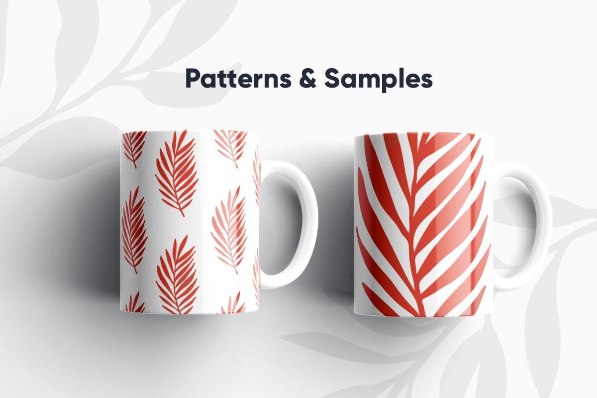 手绘自然花卉植物艺术背景图矢量素材 Floral Backgrounds & Patterns插图(1)