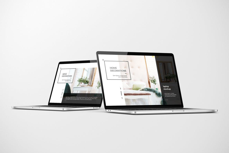 网页WEB设计笔记本电脑屏幕演示样机模板 Laptop Mockup插图(1)