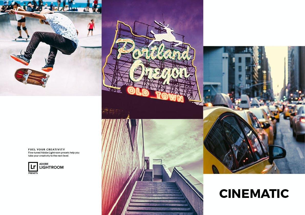 20种电影效果摄影照片调色LR预设 Cinematic Lightroom Presets插图(1)