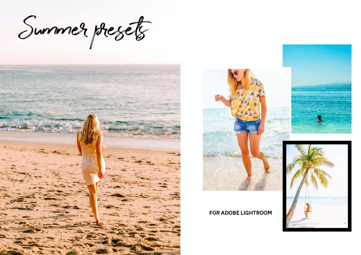 30款夏季海滩摄影照片调色LR预设模板 Summer Lightroom Presets插图(1)