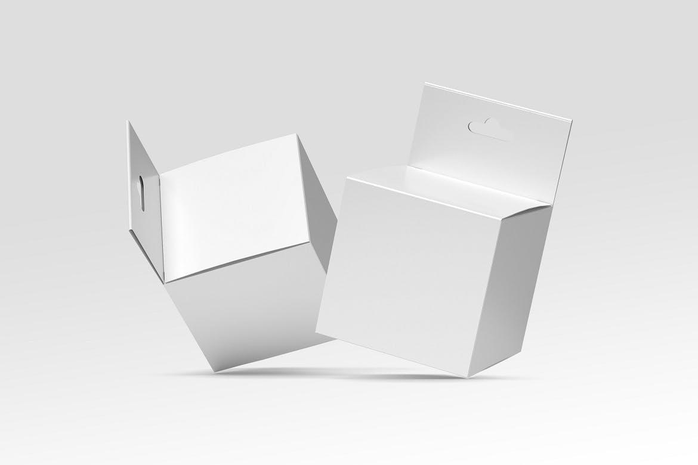 方形产品包装纸盒设计展示样机模板 Square Box Mockup Packaging插图(1)