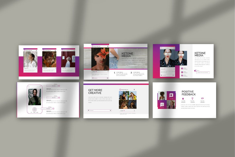 创意多用途商务营销幻灯片设计模板 KETONE – Powepoint Template Business Corporate插图(1)