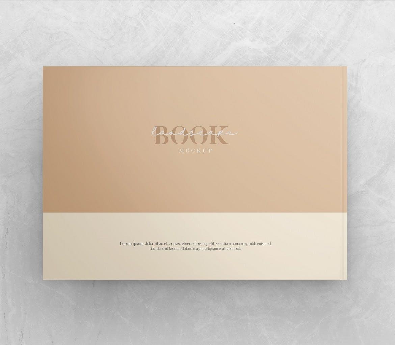横向精装书画册设计智能贴图样机 Landscape Book – Mockup Vol.2插图(1)
