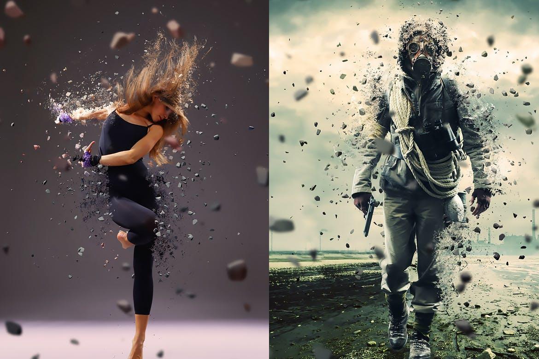 粉碎效果照片处理特效PS动作模板下载 Explode And Shatter Photoshop Action插图(1)