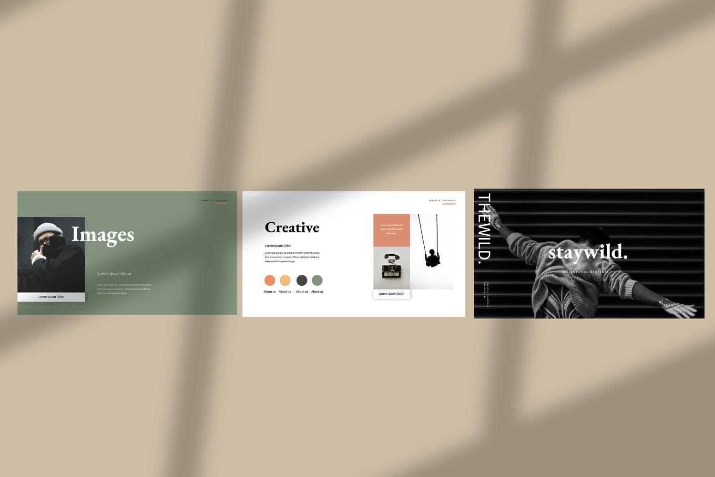 创意极简商业策划书演示文稿设计模板 Staywild – Creative Minimal Powerpoint插图(1)