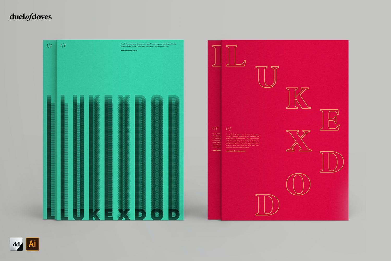 时尚海报简历文字版式设AI模板素材 Typographic Resume Posters – Vol. 3插图(1)