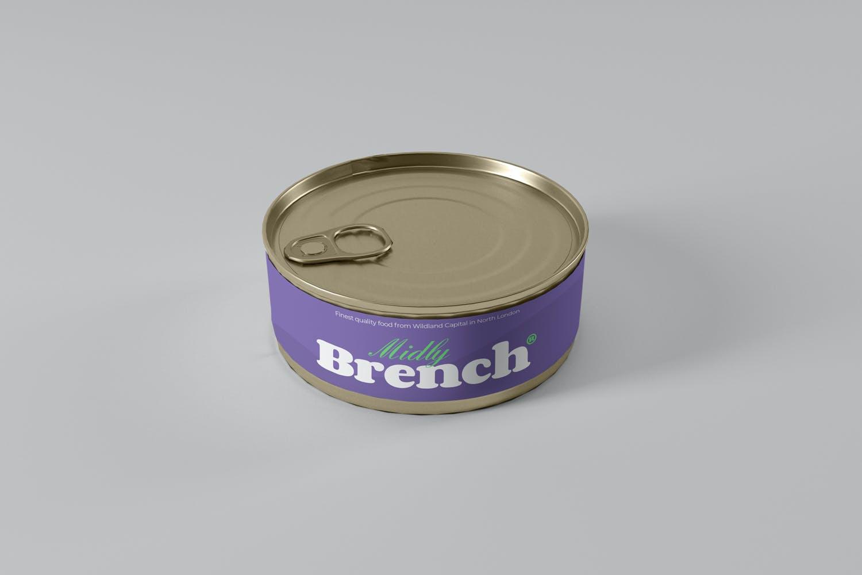 食品罐头金属罐设计展示样机 Food Tin Can Mockups插图(1)