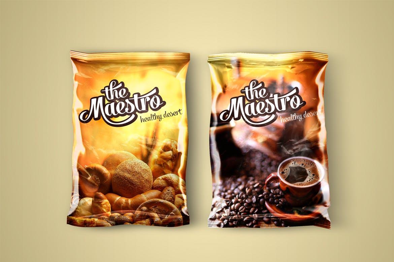 铝箔食品包装袋设计展示样机 Foil Packaging Mockup插图(1)
