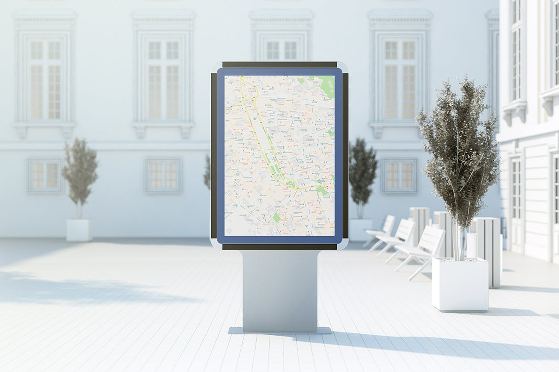 城市灯箱广告牌设计展示样机 City Light Board Mockup插图(1)